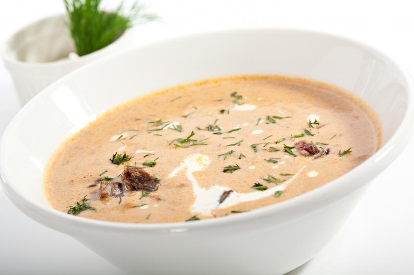Крем-суп из овощей и говядины
