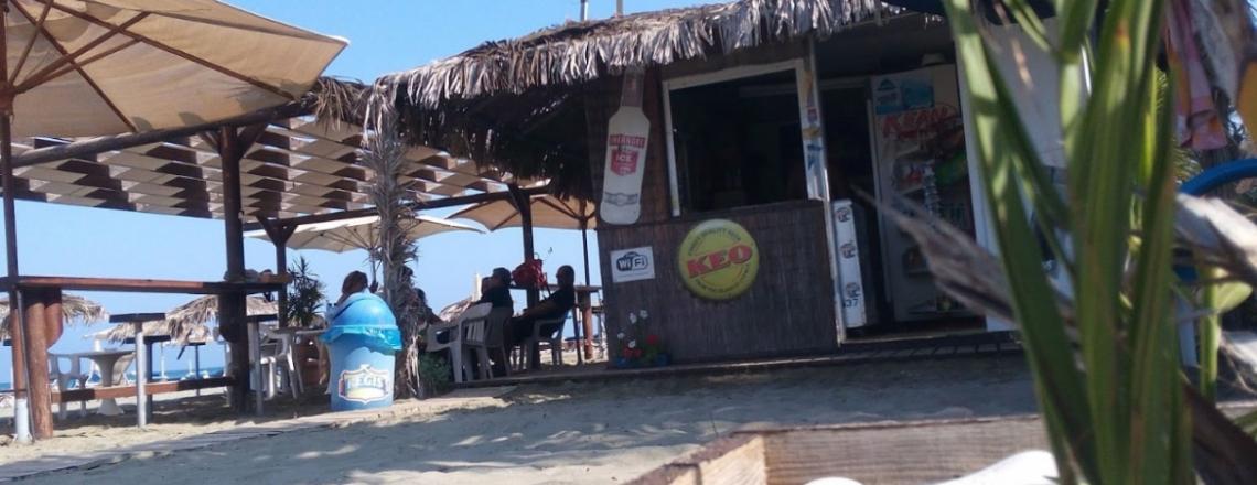 Faros Beach Bar, пляжный бар Faros в пригороде Ларнаки