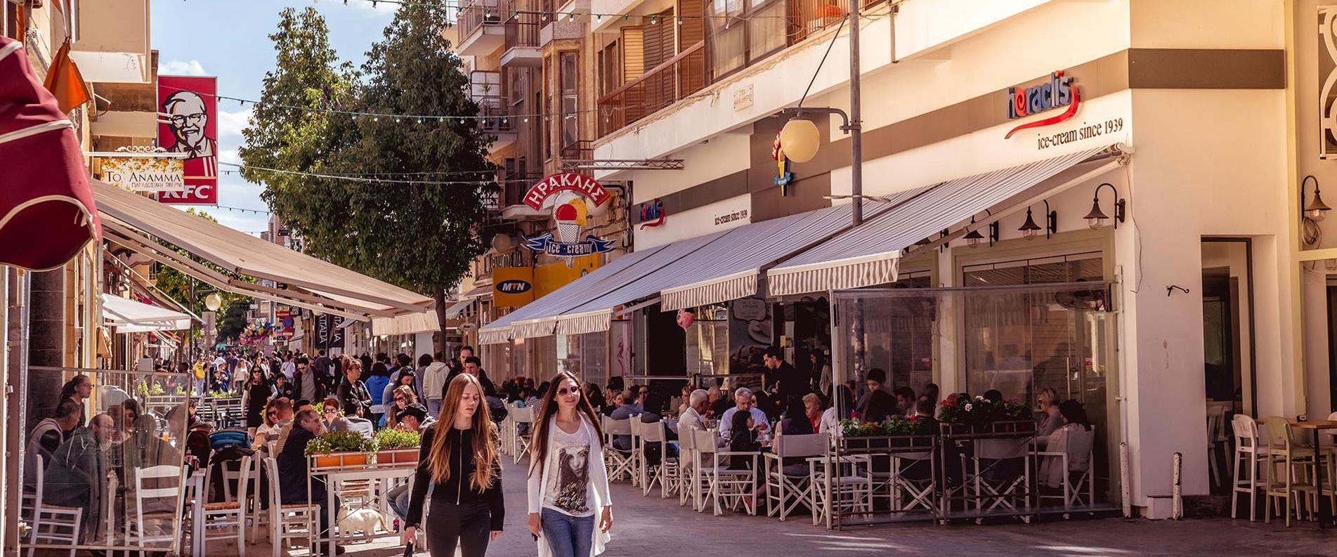 Прогулка по главной улице Никосии